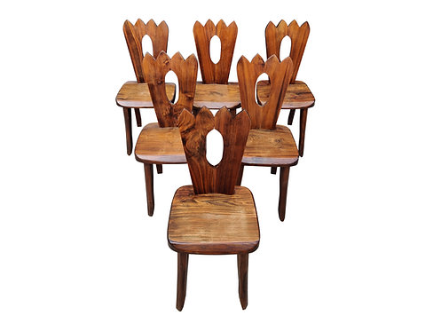 Dining chairs by Olavi Hanninen, set of six, 1950s