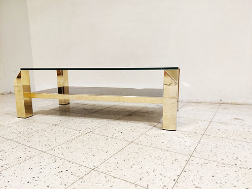 SOLD Vintage golden coffee table, 1970s