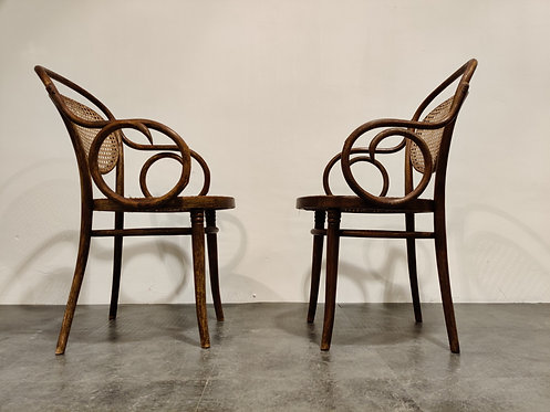 SOLD Pair of bentwood armchairs by ZPM Radomsko, 1920s