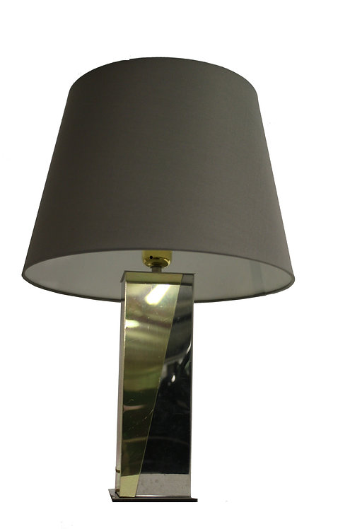 Vintage brass and chrome table lamp, 1970s
