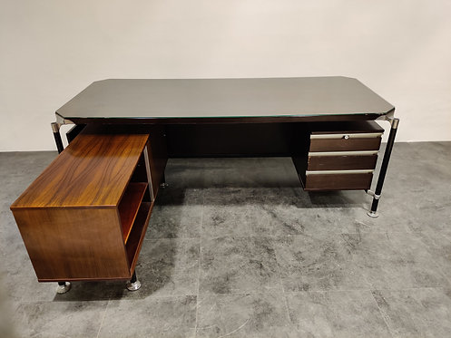 SOLD President's desk by Ico & Luisa Parisi for Mim Roma, 1960s