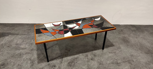 Mid century ceramic coffee table by Vigneron, 1960s