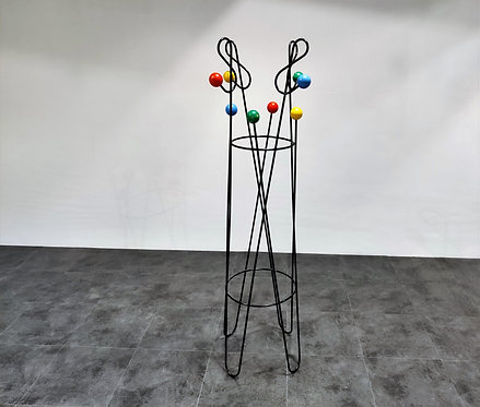 SOLD Mid century coloured atomic coat stand by Roger Feraud, 1950s