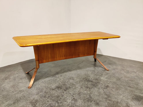 Mid century curved coffee table, 1960s