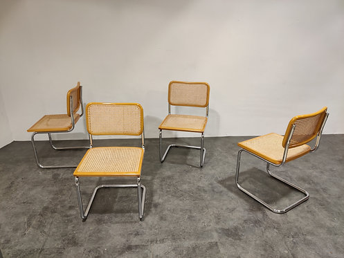 SOLD Set of 4 Marcel Breuer dining chairs, 1970s