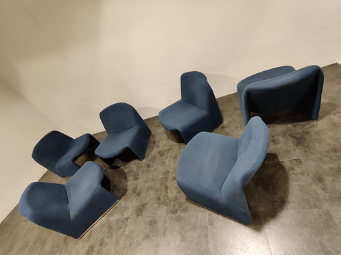 SOLD Alky Chairs Designed by Giancarlo Piretti for Castelli, 1970s