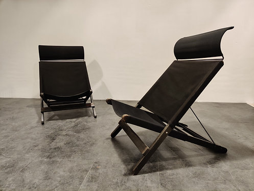 Vintage folding chairs by Tord Björklund for Ikea, 1990s