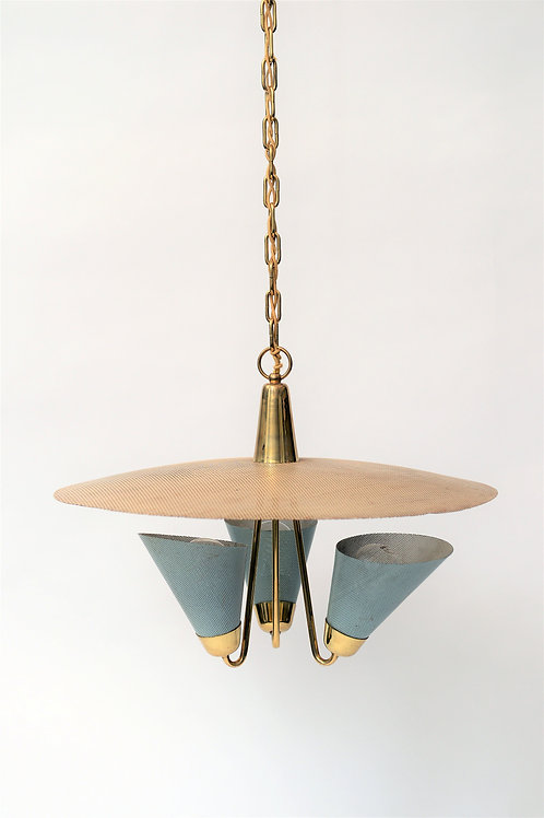French mid-century chandelier by Mathieu Mategot, 1950s
