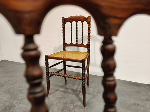 SOLD Pair of antique mahogany side chairs, 1920s
