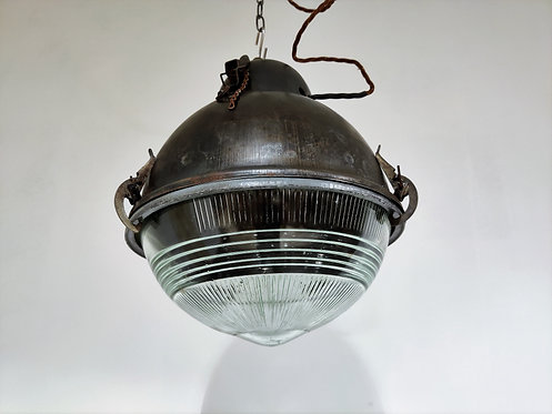 Industrial lamps with glass, 1930s