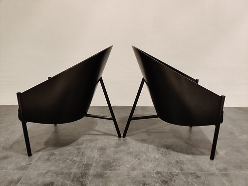 SOLD Pair of vintage pratfall Chairs by Philippe Starck for Driade, 1982