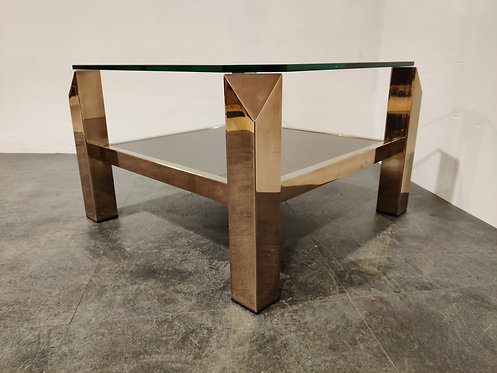 Vintage belgochrom 23kt coffee table, 1970s