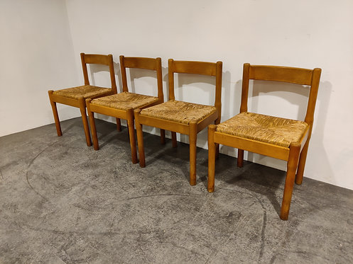 SOLD Vintage Carimate dining chairs by Vico Magistretti, 1970s