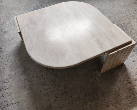 Travertine Coffee Table, 1970s italy