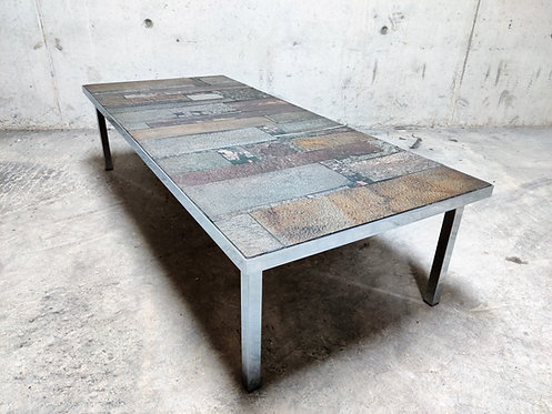 Brutalist coffee table by Pia Manu for Amphora, 1960s