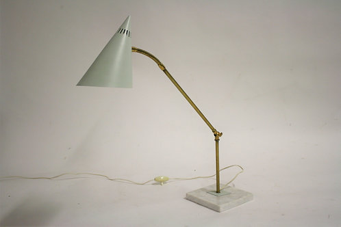 SOLD Vintage brass and marble table lamp, 1960s