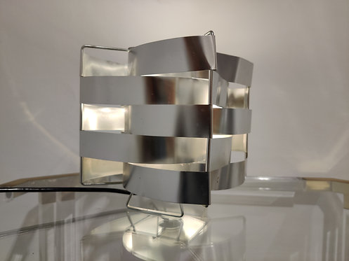 SOLD Aluminum table lamp by Max sauze, 1970s