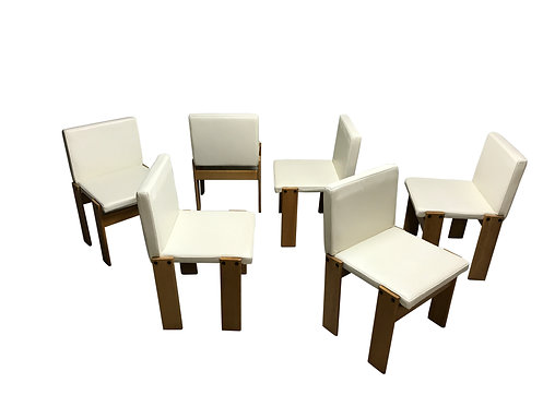 SOLD Tobia & Afra Scarpa for Molteni monk chairs, set of 6, 1970s