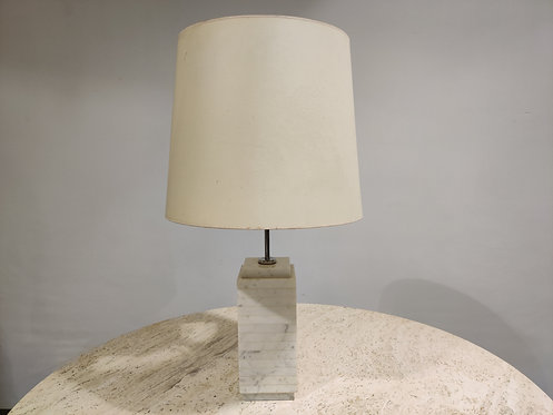 SOLD Marble tabe lamp by Florence Knoll, 1960s