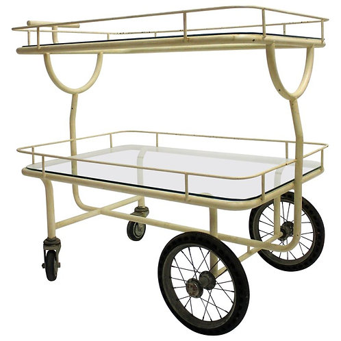 Antique hospital trolley, 1940s