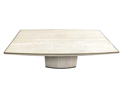 Travertine dining table by Willy Rizzo, 1970s