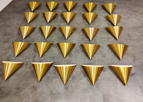 Vintage brass wall lamps by Dieter Witte for Staff Leuchten, 1970s