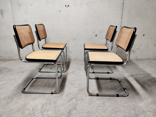 Set of 4 Cesca side chairs, 1970s