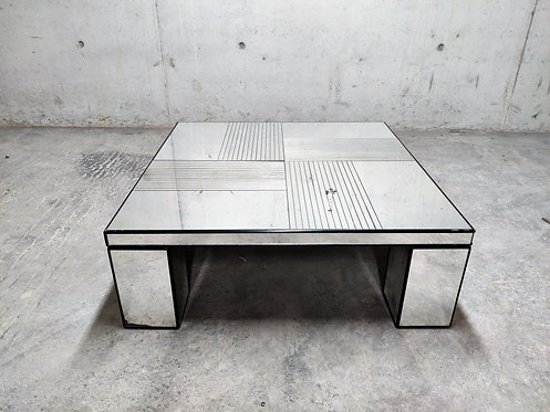 SOLD Vintage mirrored coffee table, 1970s