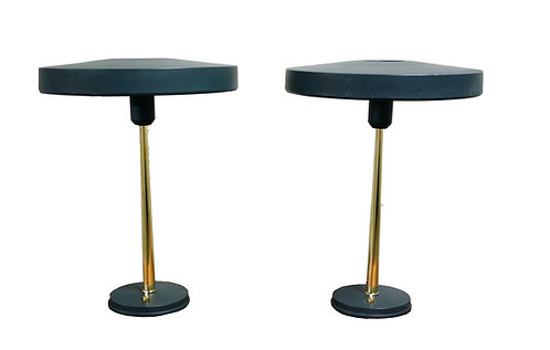 Pair of  Mid-Century Louis Kalff For Philips Table Lamps