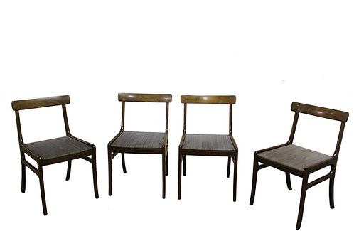 1960s Mahogany Rungstedlund Chairs by Ole Wanscher for Poul Jeppesen Set of 4