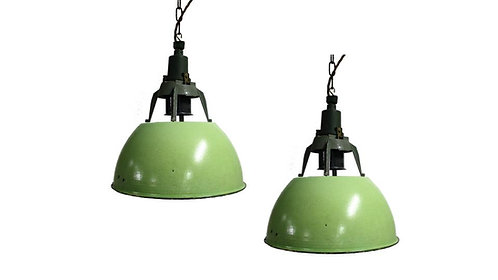 Vintage industrial pendant lights, 1960s