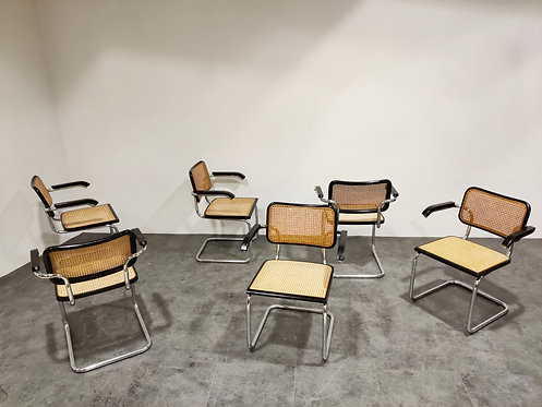 SOLD Vintage Marcel Breuer Cesca B64 chairs, made in italy, 1970s  (set of 6)