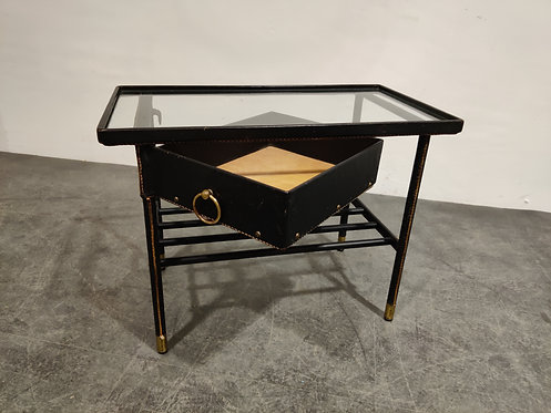 SOLD Side table by Jacques Adnet, 1950s