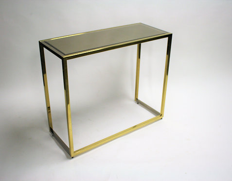 Brass and chrome console table, 1970s
