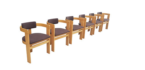 Tobia scarpa Pigreco dining chairs, set of 6, 1970s