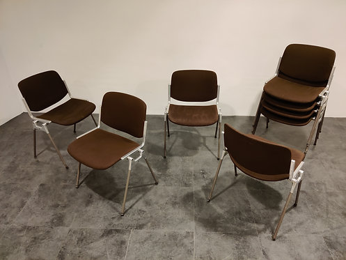 SOLD Vintage DSC 106 Side Chairs by Giancarlo Piretti for Castelli, 1970s