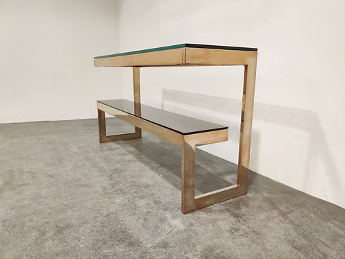 SOLD Belgochrom console table 1970s