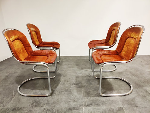 SOLD Dining chairs by Gastone Rinaldi, 1970s