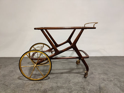 SOLD Vintage italian serving trolley by Cesare Lacca, 1950s