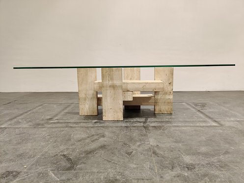 SOLD Brutalist coffee table by Willy Ballez, 1970s
