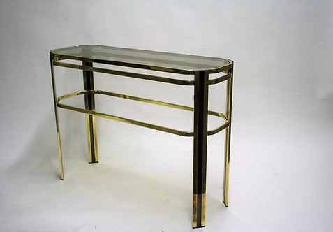 Brass console table, 1970s