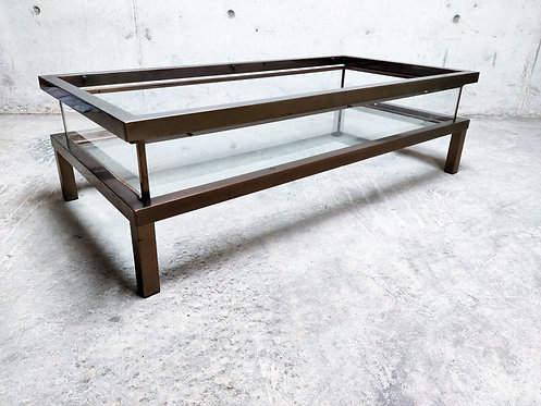 SOLD Vintage sliding top coffee table, 1970s