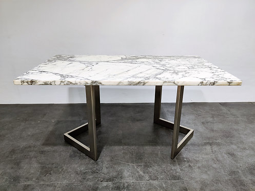 SOLD Marble dining table by Francoise See, 1970s
