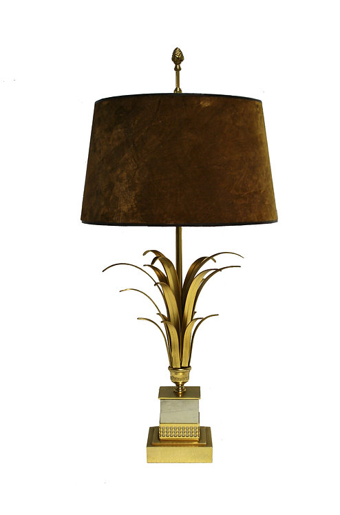 Brass pineapple leaf table lamp 1970s