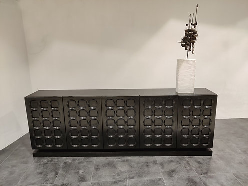 SOLD Graphical brutalist credenza, 1970s
