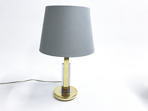 Vintage willy rizzo style table lamp, 1970s