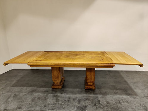 SOLD Art deco dining table by Gaston Poisson, 1940s