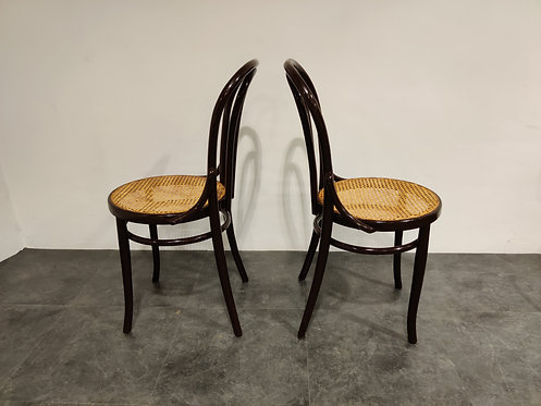 SOLD Pair of bentwood bistro chairs, 1950s