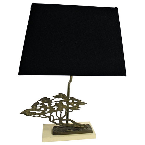 Brass Bonsai Table Lamp By Willy Daro, 1970s