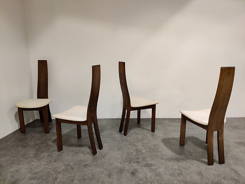 SOLD Vintage wooden dining chairs, 1970s